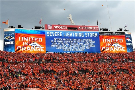 SEVERE LIGHTNING PREDICTED IN DENVER ON SUNDAY!